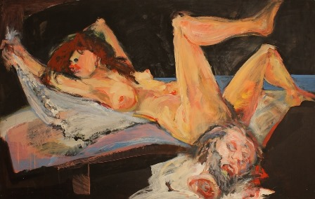 Karczagi Endre: Salome, vászon, akril