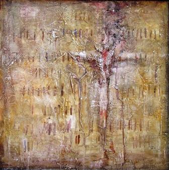Varga György: Golgota, 2006, vászon, akril