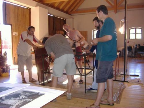 Az Ajkai Grafikai Műhely Művésztelepe Magyarpolányban