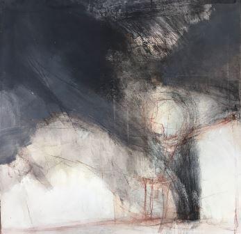 Dóró Zsolt: Tranzit, vászon, akril, 70x70 cm